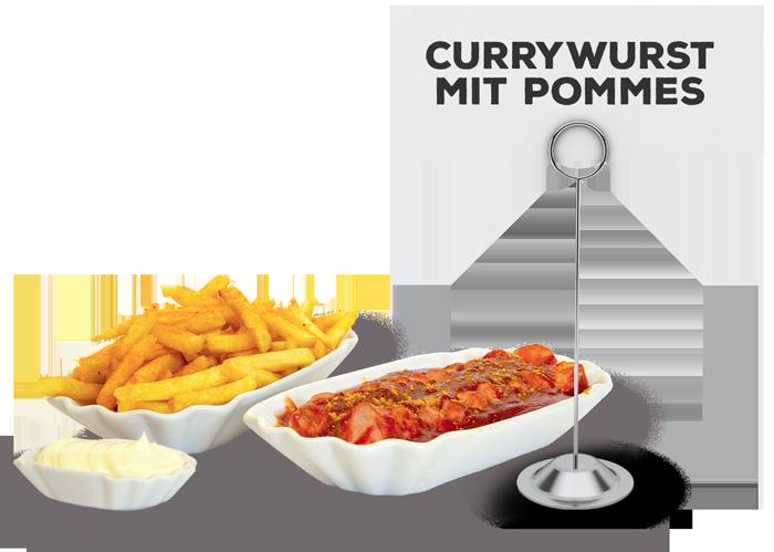 Currywurst mit Pommes | Lehmeier's Imbiss