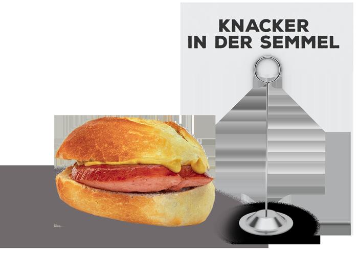 Knacker in der Semmel | Lehmeier's Imbiss