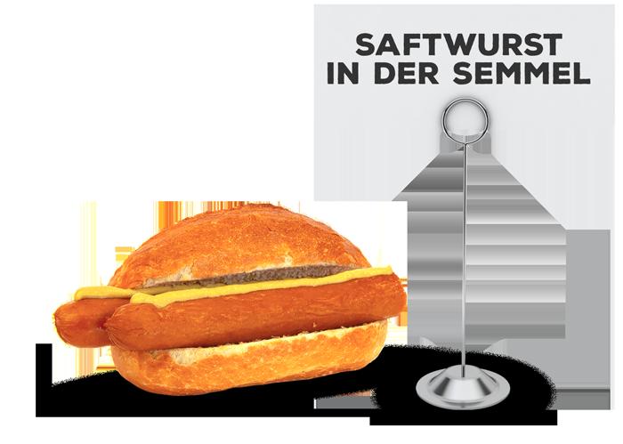 Saftwurst in der Semmel | Lehmeier's Imbiss