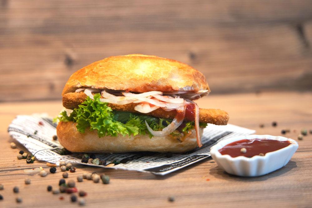 Schnitzel Sandwich Impressionen   Lehmeier's Imbiss